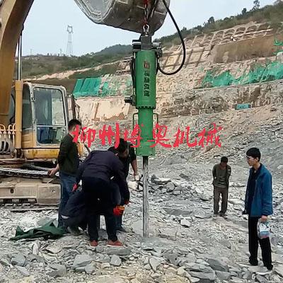 广西机载劈裂机破石工程案例