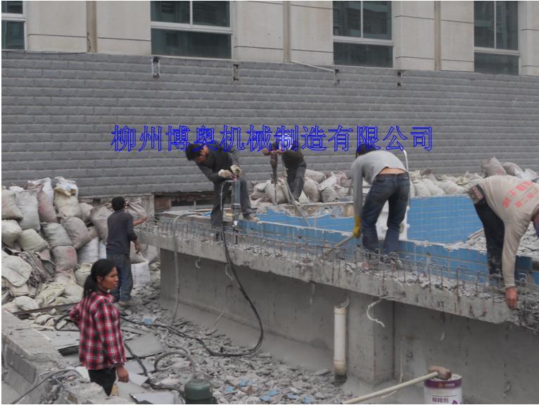博奥钢筋混凝土搭配劈裂机的破拆施工方案