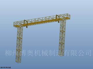 承接定制鋼桁架橋梁上下弦檢查小車方案介紹說明