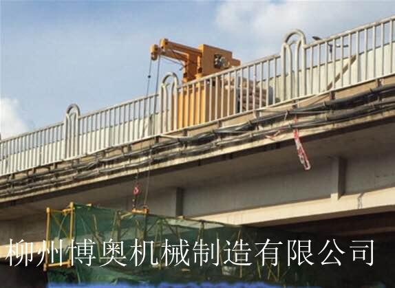博奧簡易吊籃式橋梁檢測車有效解決跨點過墩作業問題!