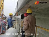 橋梁PVC排水管道安裝高空作業施工行走車